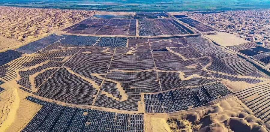 全球最大的沙漠集中式光伏发电基地即将并网发电